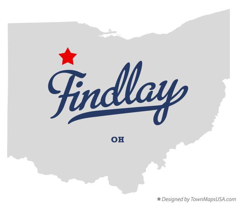 map of findlay oh ohio