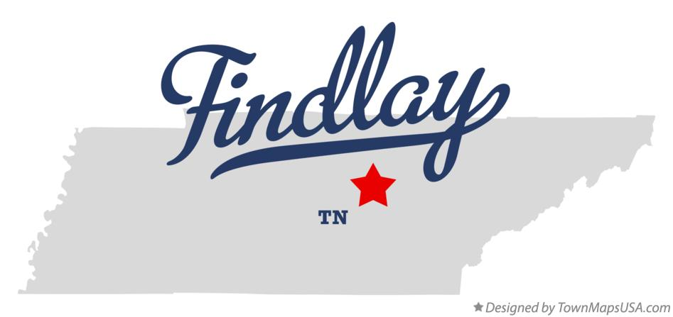 Map of Findlay Tennessee TN