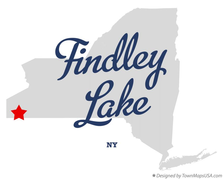 Map of Findley Lake New York NY