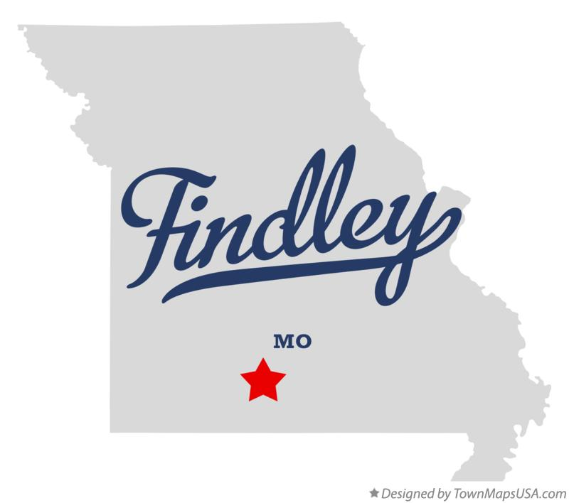 Map of Findley Missouri MO