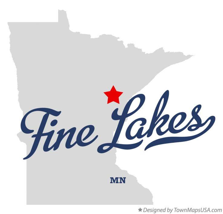 Map of Fine Lakes Minnesota MN