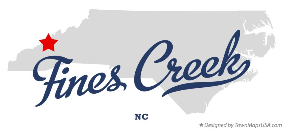 Map of Fines Creek North Carolina NC