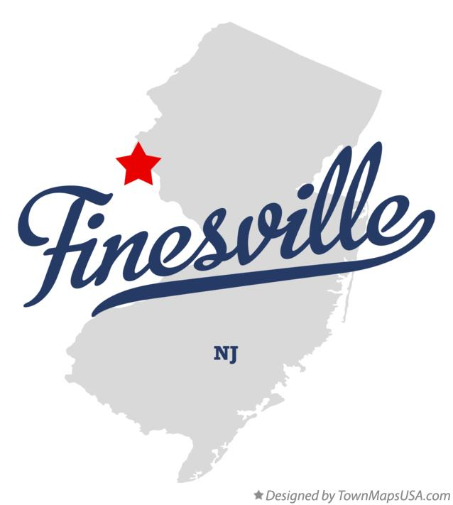 Map of Finesville New Jersey NJ