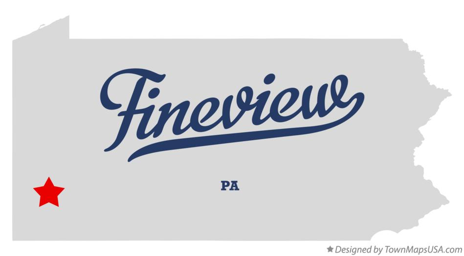 Map of Fineview Pennsylvania PA