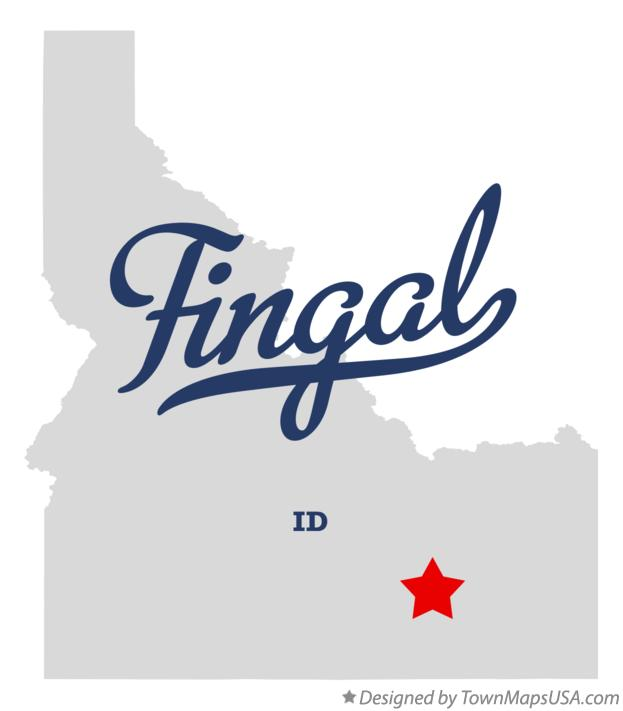 Map of Fingal Idaho ID