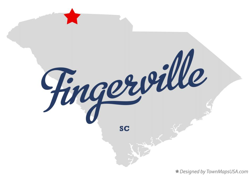 Map of Fingerville South Carolina SC