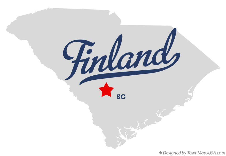 Map of Finland South Carolina SC