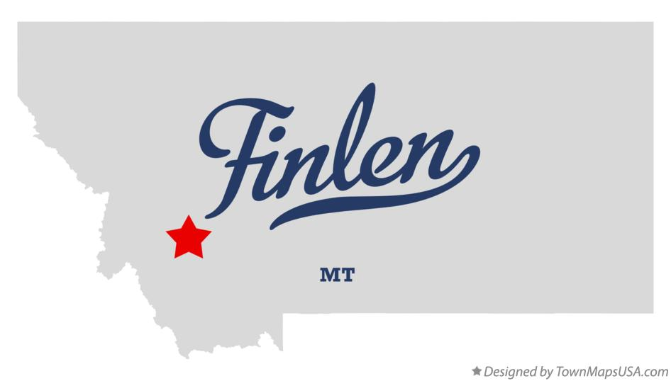 Map of Finlen Montana MT