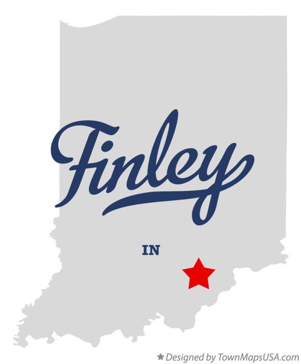 Map of Finley Indiana IN