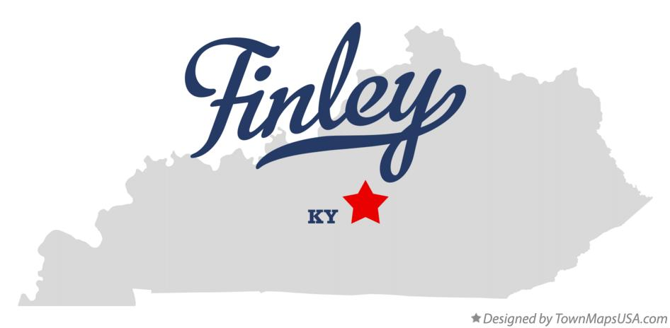 Map of Finley Kentucky KY