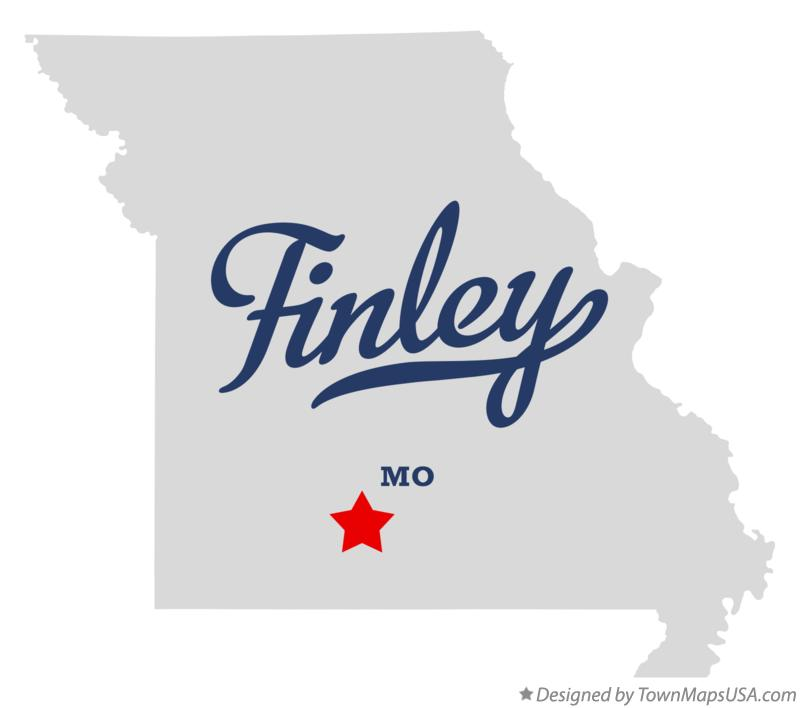 Map of Finley Missouri MO