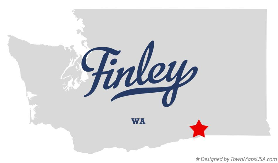 Map of Finley Washington WA