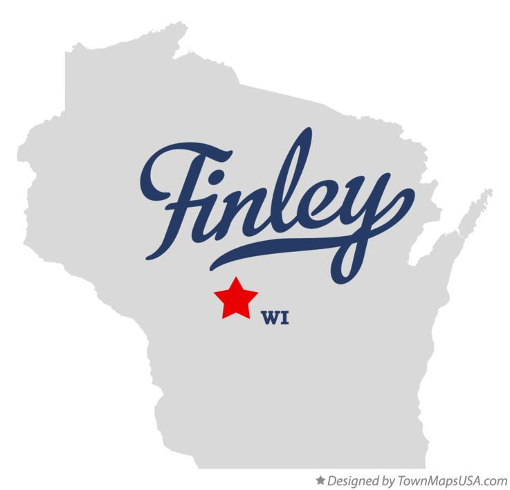Map of Finley Wisconsin WI