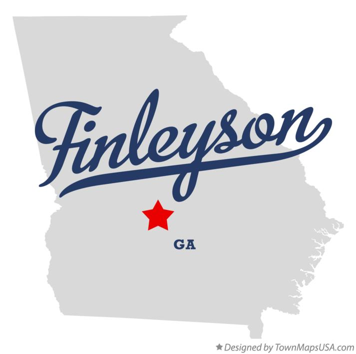 Map of Finleyson Georgia GA
