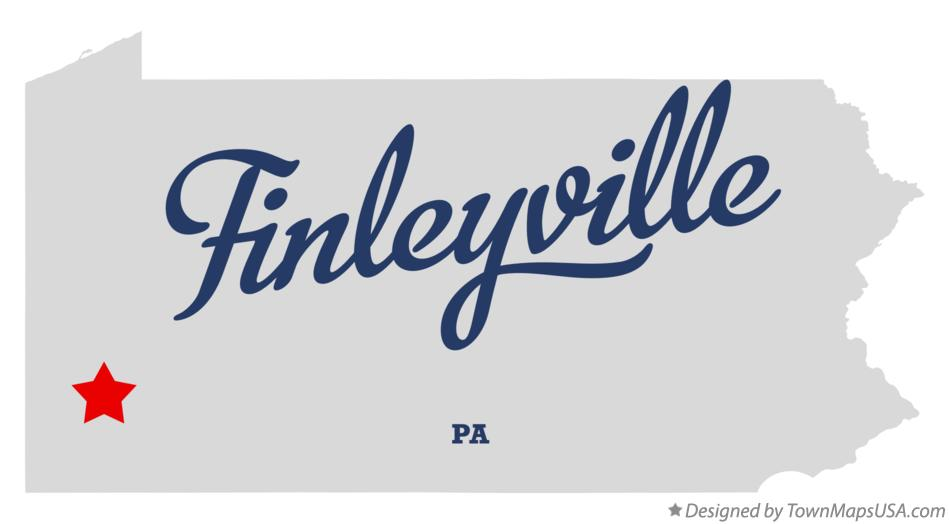 Map of Finleyville Pennsylvania PA