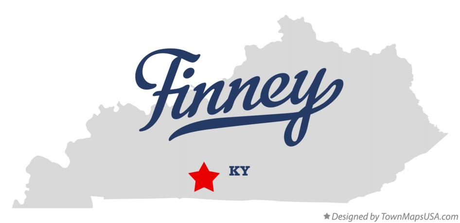 Map of Finney Kentucky KY