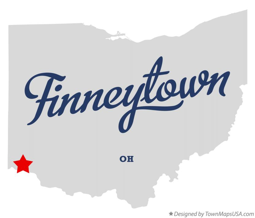 Map of Finneytown Ohio OH