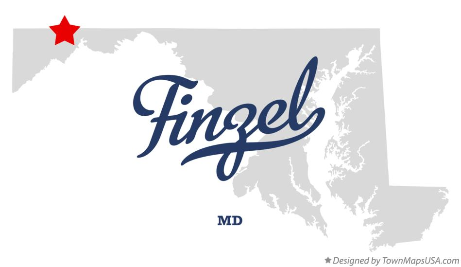 Map of Finzel Maryland MD