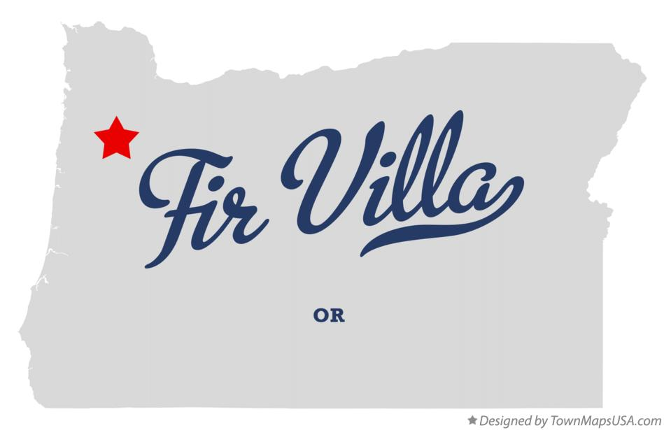 Map of Fir Villa Oregon OR
