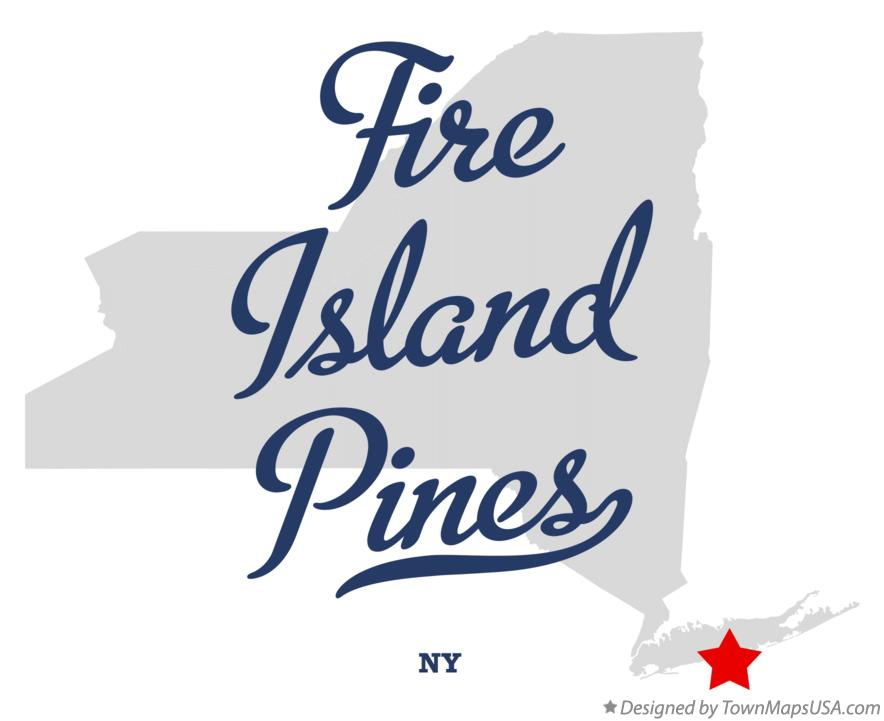 Map of Fire Island Pines New York NY
