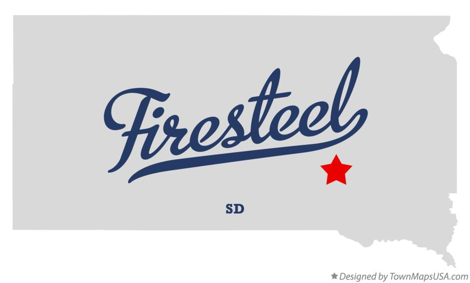 Map of Firesteel South Dakota SD