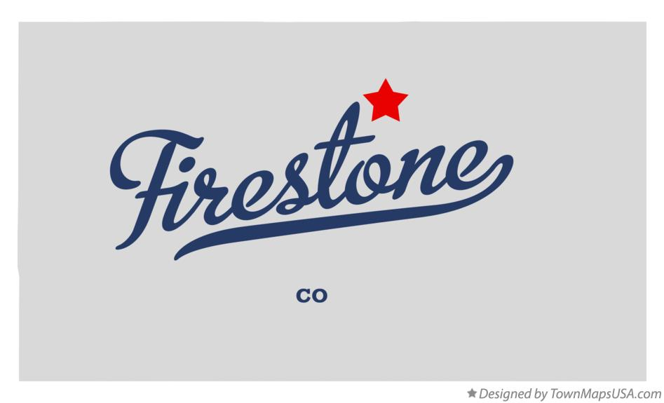 Map Of Firestone Co Colorado