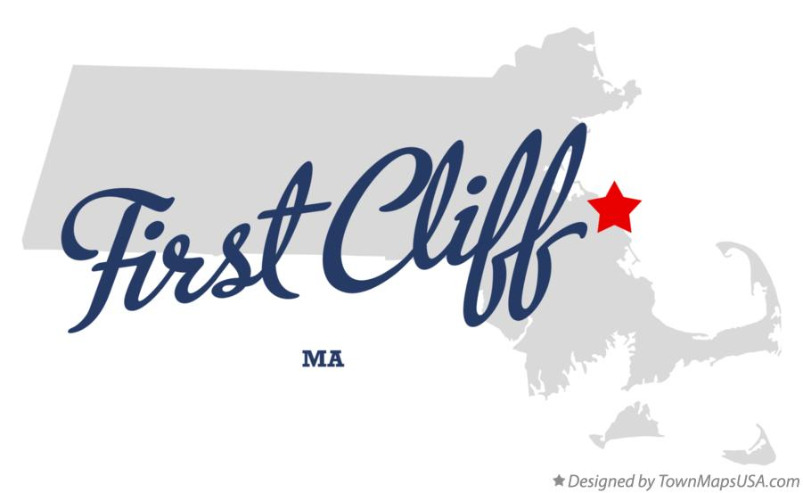 Map of First Cliff Massachusetts MA