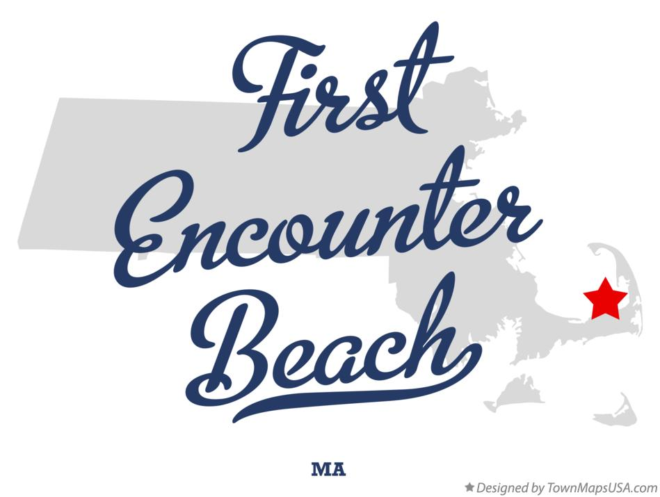 Map of First Encounter Beach Massachusetts MA