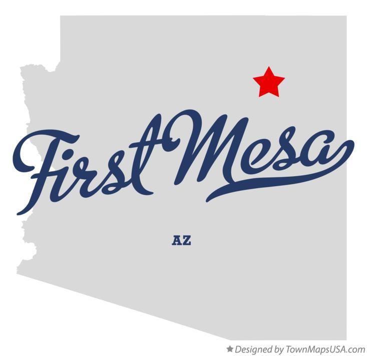 Map of First Mesa, AZ, Arizona