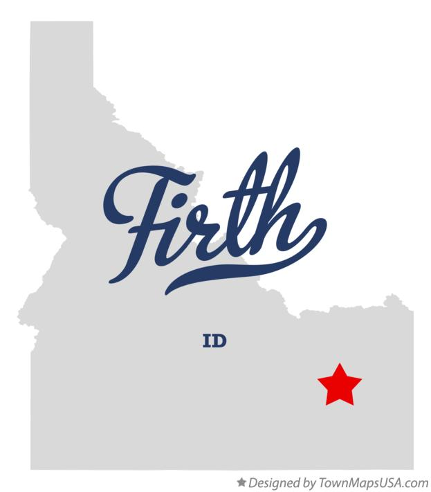 Map of Firth Idaho ID