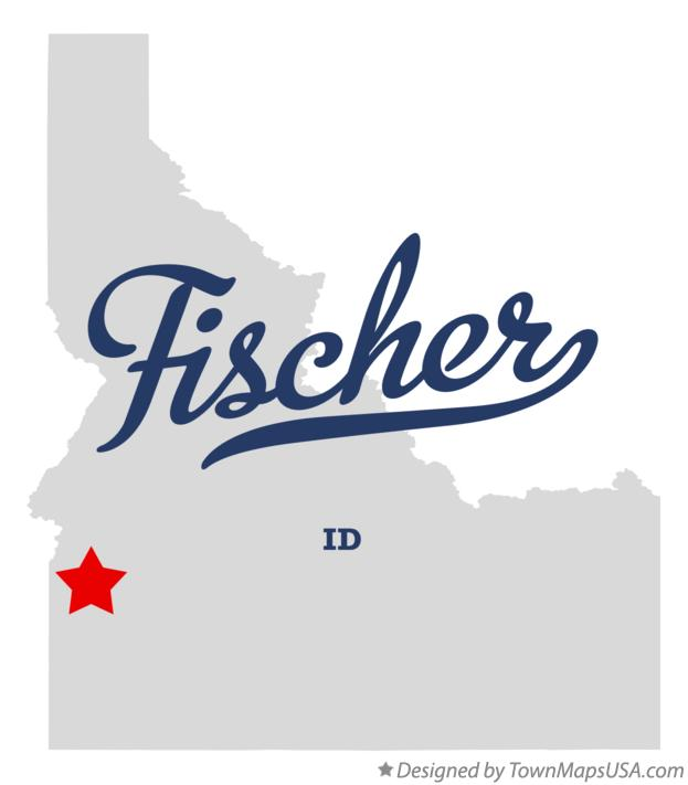 Map of Fischer Idaho ID