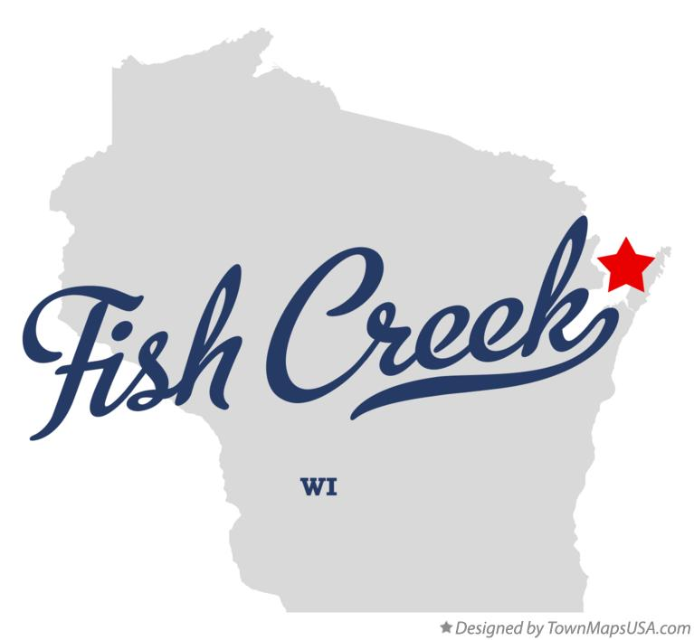 Map of Fish Creek Wisconsin WI