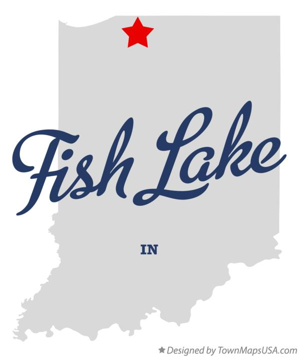 Map of Fish Lake Indiana IN
