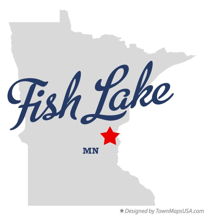 Map of Fish Lake Minnesota MN