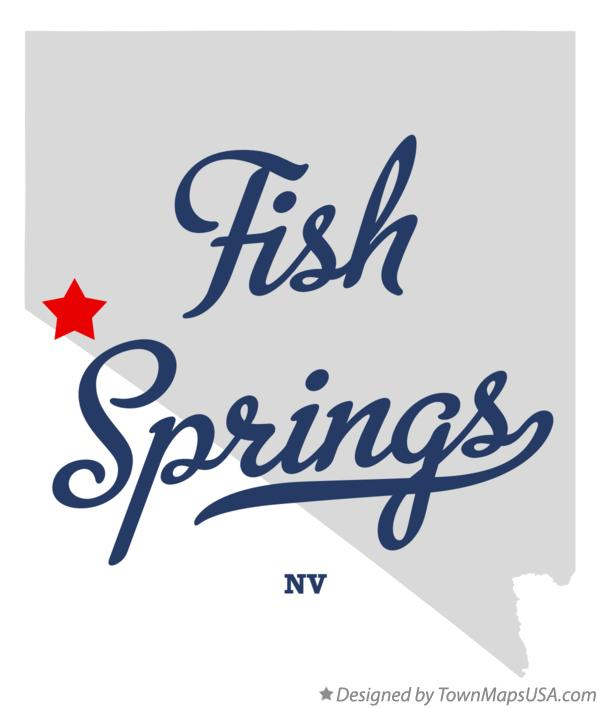 Map of Fish Springs Nevada NV