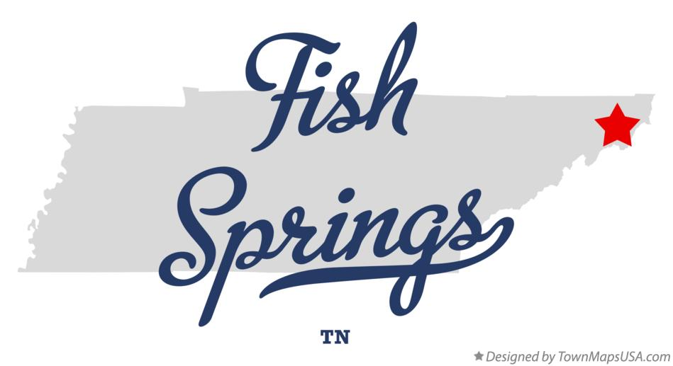 Map of Fish Springs Tennessee TN