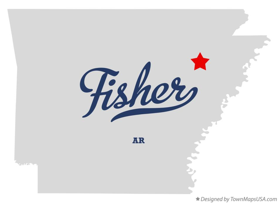 Map of Fisher Arkansas AR