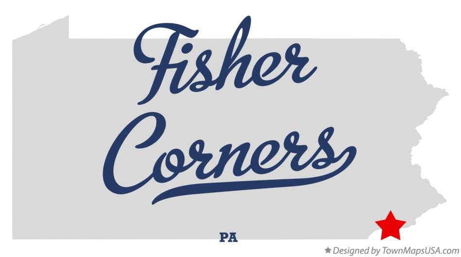 Map of Fisher Corners Pennsylvania PA
