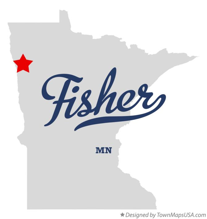 Map of Fisher Minnesota MN