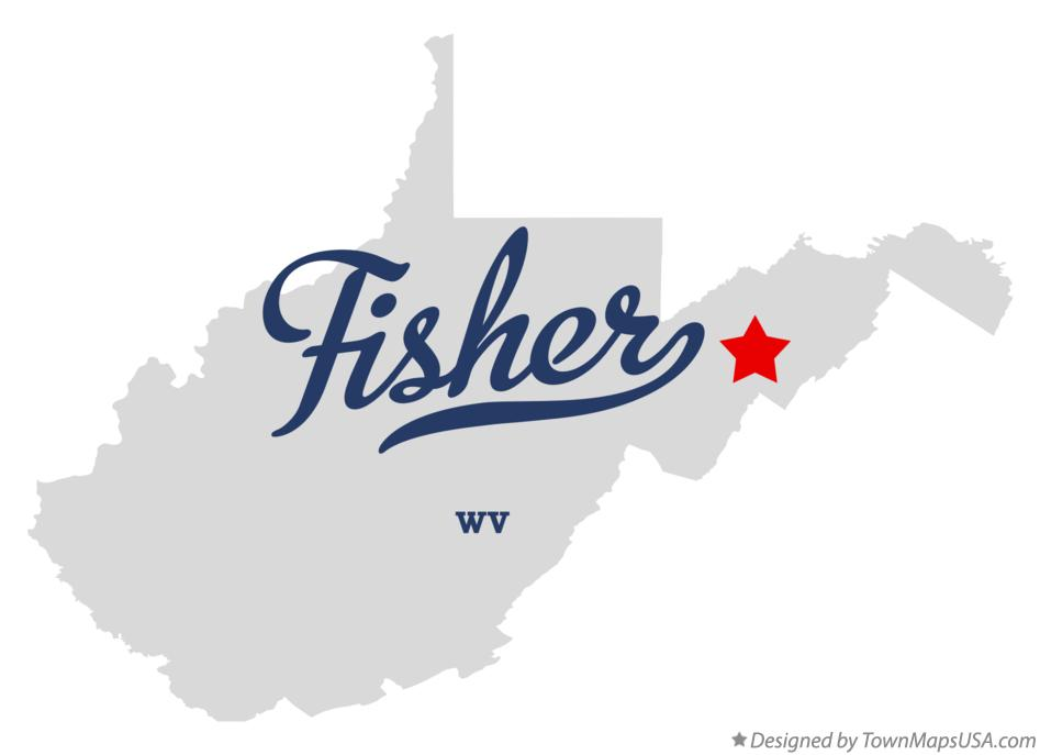Map of Fisher West Virginia WV