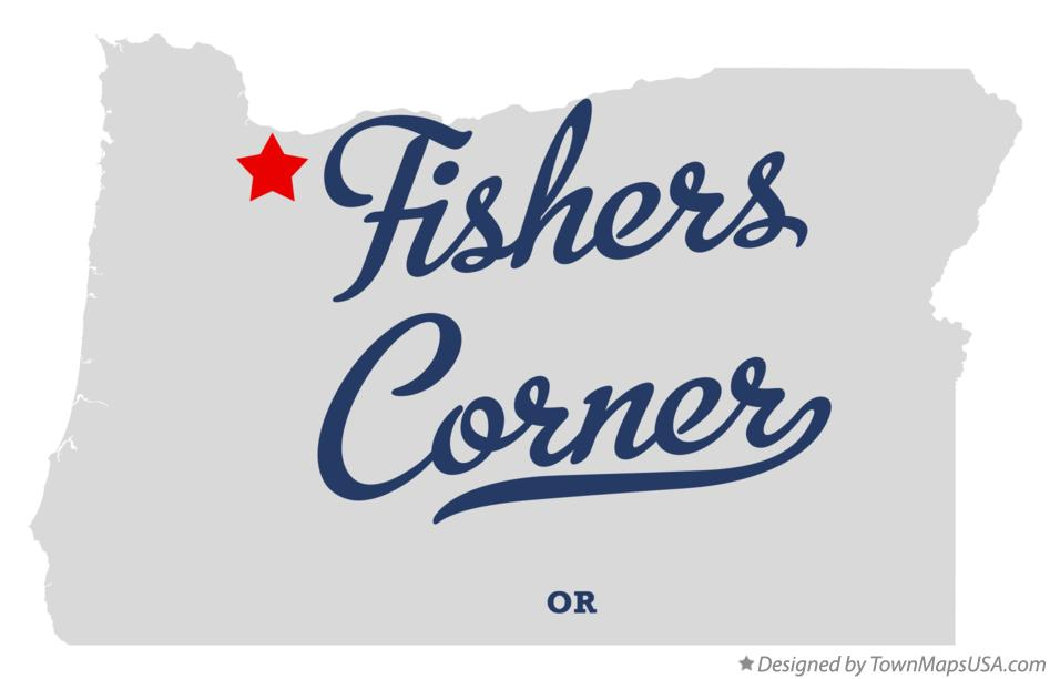 Map of Fishers Corner Oregon OR