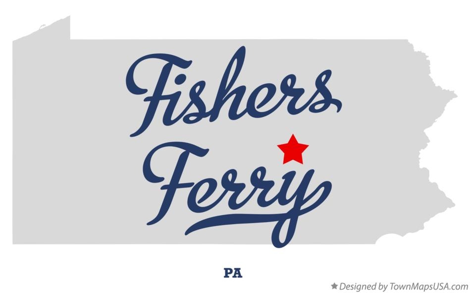 Map of Fishers Ferry Pennsylvania PA