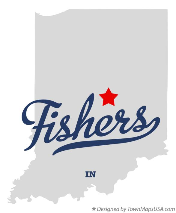 Map of Fishers Indiana IN