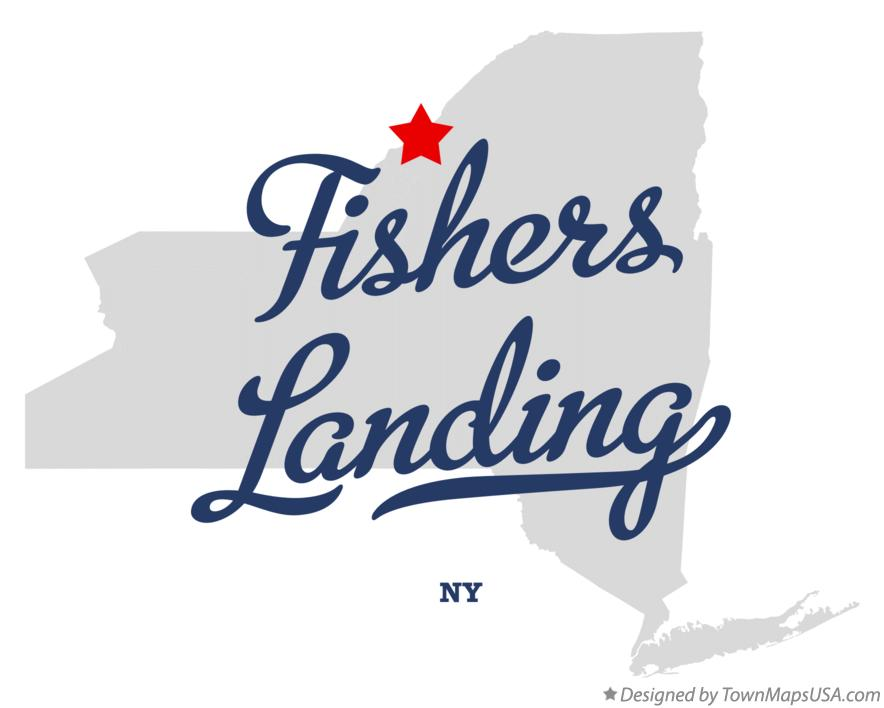 Map of Fishers Landing New York NY