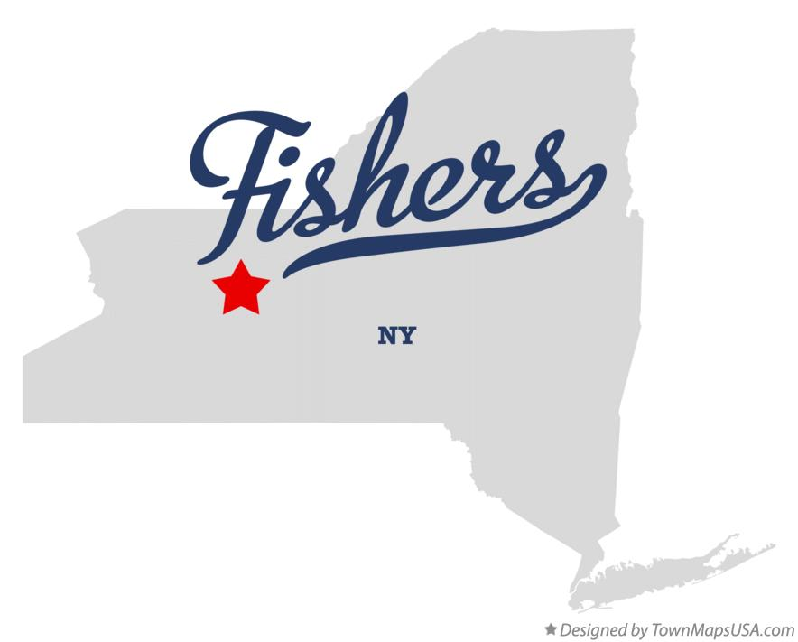 Map of Fishers New York NY