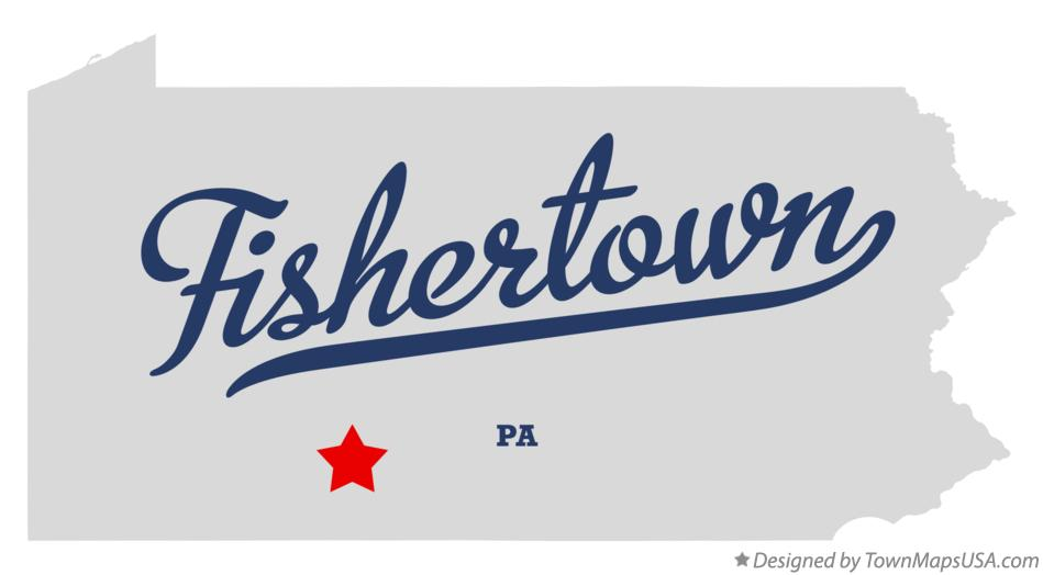 Map of Fishertown Pennsylvania PA