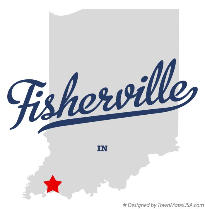 Map of Fisherville Indiana IN