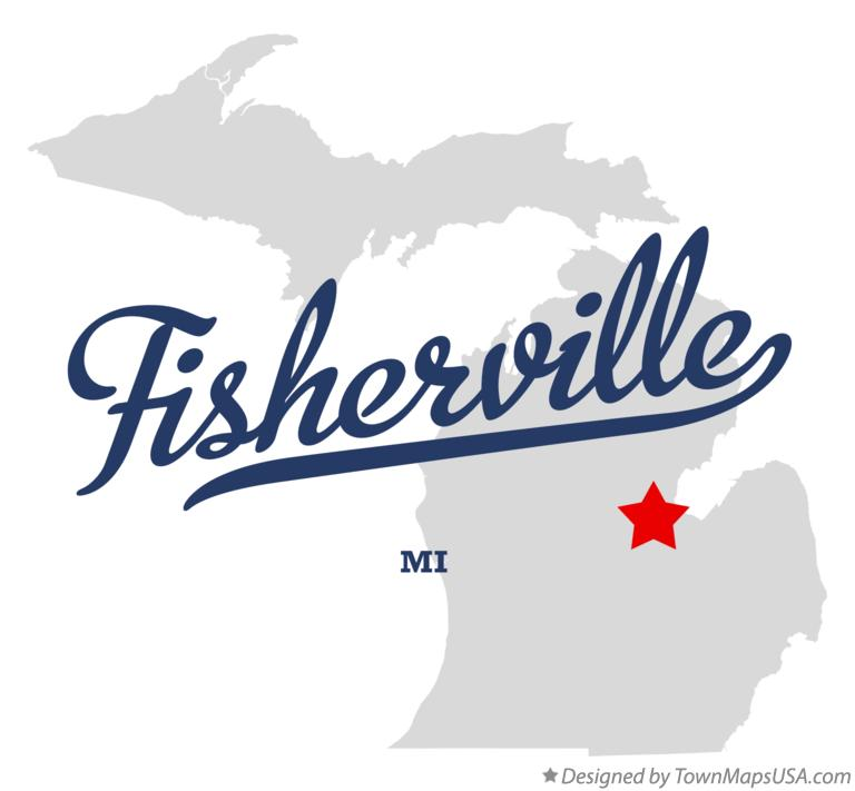 Map of Fisherville Michigan MI