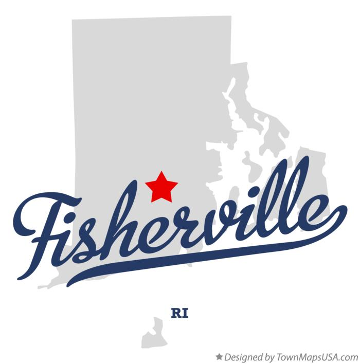 Map of Fisherville Rhode Island RI