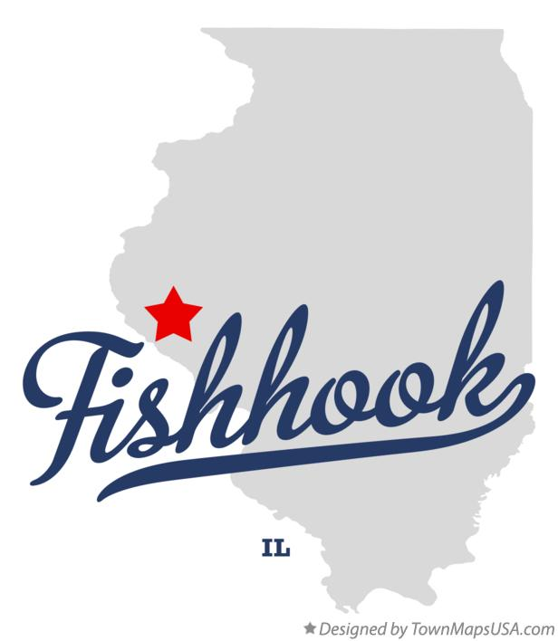 Map of Fishhook Illinois IL